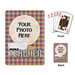Teacher Playing Cards - Playing Cards Single Design