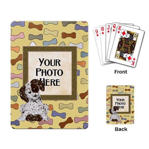 Puppy Playing Cards By Lisa Minor   Playing Cards Single Design   Je41r9rvi3pr   Www Artscow Com Back