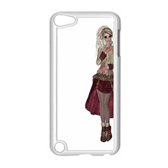 Steampunk Style Girl Wearing Red Dress Apple Ipod Touch 5 Case (white)