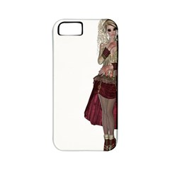 Steampunk Style Girl Wearing Red Dress Apple Iphone 5 Classic Hardshell Case (pc+silicone) by goldenjackal