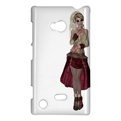 Steampunk Style Girl Wearing Red Dress Nokia Lumia 720 Hardshell Case by goldenjackal
