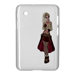 Steampunk Style Girl Wearing Red Dress Samsung Galaxy Tab 2 (7 ) P3100 Hardshell Case  by goldenjackal