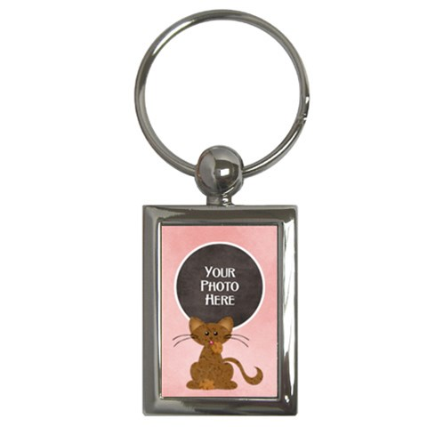 Kitty Keychain By Lisa Minor   Key Chain (rectangle)   Oj0iv9419p56   Www Artscow Com Front