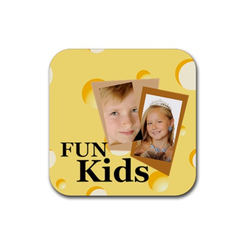 Kids By Kids   Rubber Coaster (square)   9xwouxqqufdd   Www Artscow Com Front