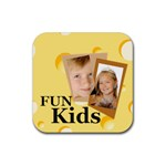 kids - Rubber Coaster (Square)