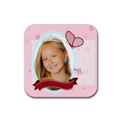 Kids By Kids   Rubber Coaster (square)   Hk3gq3jtxa1a   Www Artscow Com Front