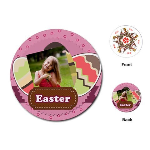 Easter By Easter   Playing Cards (round)   23schbnuxq1s   Www Artscow Com Front