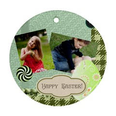 Easter By Easter   Round Ornament (two Sides)   A5szul62jlxq   Www Artscow Com Back