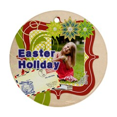 Easter By Easter   Round Ornament (two Sides)   Xj25l5kfktfg   Www Artscow Com Front