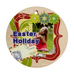 Easter By Easter   Round Ornament (two Sides)   Xj25l5kfktfg   Www Artscow Com Back