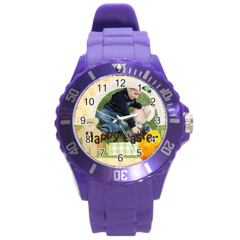 Easter By Easter   Round Plastic Sport Watch (l)   Rtd4dlrgzy5j   Www Artscow Com Front