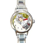 sessho lady watch - Round Italian Charm Watch