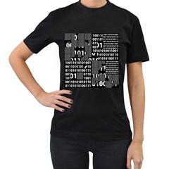 Beauty of Binary Women s Two Sided T-shirt (Black)