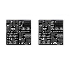 Beauty Of Binary Cufflinks (square) by StuffOrSomething