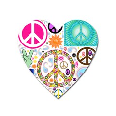 Peace Collage Magnet (heart) by StuffOrSomething