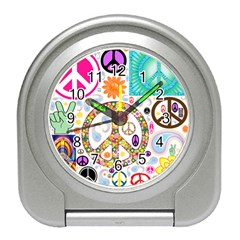 Peace Collage Desk Alarm Clock by StuffOrSomething