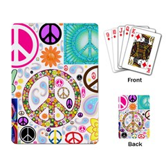 Peace Collage Playing Cards Single Design by StuffOrSomething