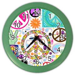 Peace Collage Wall Clock (color) by StuffOrSomething