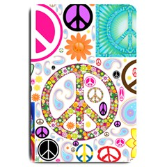 Peace Collage Large Door Mat by StuffOrSomething