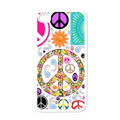 Peace Collage Apple Iphone 4 Case (white) by StuffOrSomething