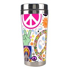 Peace Collage Stainless Steel Travel Tumbler by StuffOrSomething