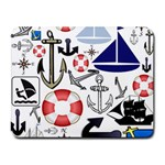 Nautical Collage Small Mouse Pad (Rectangle)