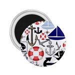 Nautical Collage 2.25  Button Magnet