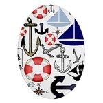 Nautical Collage Oval Ornament