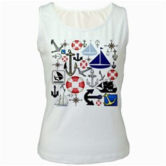 Nautical Collage Women s Tank Top (white) by StuffOrSomething