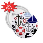 Nautical Collage 2.25  Button (100 pack)