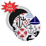 Nautical Collage 2.25  Button Magnet (100 pack)