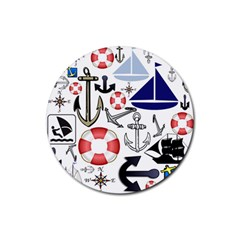 Nautical Collage Drink Coasters 4 Pack (round) by StuffOrSomething