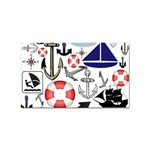 Nautical Collage Sticker 100 Pack (Rectangle)