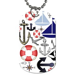 Nautical Collage Dog Tag (two Sided)  by StuffOrSomething