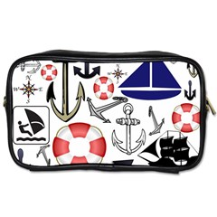 Nautical Collage Travel Toiletry Bag (two Sides) by StuffOrSomething