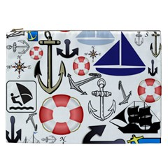 Nautical Collage Cosmetic Bag (xxl) by StuffOrSomething