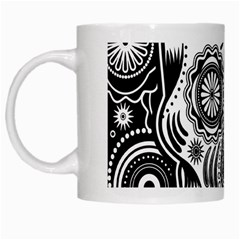 Sugar Skull White Coffee Mug by Ancello