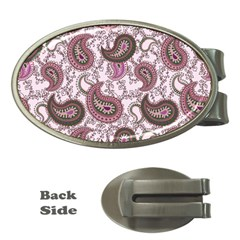 Paisley In Pink Money Clip (oval) by StuffOrSomething