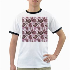Paisley In Pink Men s Ringer T Shirt by StuffOrSomething