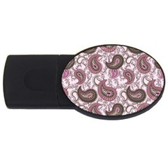 Paisley In Pink 4gb Usb Flash Drive (oval) by StuffOrSomething