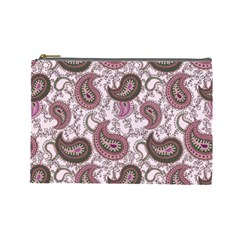 Paisley In Pink Cosmetic Bag (large) by StuffOrSomething