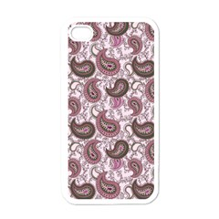 Paisley In Pink Apple Iphone 4 Case (white) by StuffOrSomething