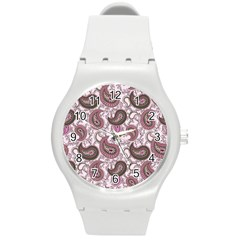 Paisley In Pink Plastic Sport Watch (medium) by StuffOrSomething
