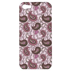Paisley In Pink Apple Iphone 5 Hardshell Case by StuffOrSomething