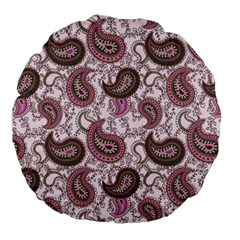 Paisley In Pink 18  Premium Round Cushion  by StuffOrSomething