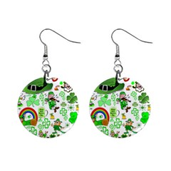 St Patrick s Day Collage Mini Button Earrings by StuffOrSomething