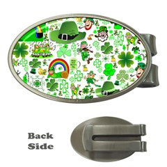 St Patrick s Day Collage Money Clip (oval) by StuffOrSomething
