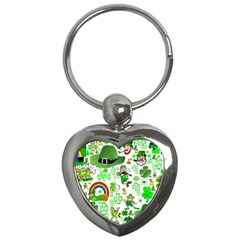 St Patrick s Day Collage Key Chain (heart) by StuffOrSomething
