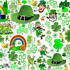 St Patrick s Day Collage Canvas 12  X 12  (unframed) by StuffOrSomething