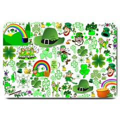 St Patrick s Day Collage Large Door Mat by StuffOrSomething